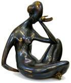 "Vadim Kirillov sculpture ""The thinking woman"""