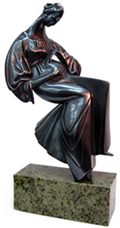 "Vadim Kirillov bronze ""Waiting"""